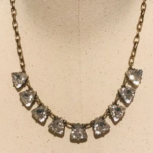 LOFT Pretty Triangle Rhinestone Necklace